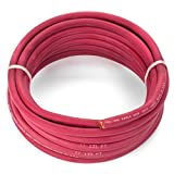 2 Gauge Premium Extra Flexible Welding Cable 600 VOLT – RED – 25 FEET – EWCS Spec – Made in the USA!