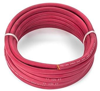 2 Calibre Premium Extra Flexible Cable de soldadura 600 V - Rojo - 25 pies - ewcs Spec - hecho en Estados Unidos.: Amazon.es: Amazon.es