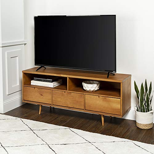(WE Furniture AZ58IV3DCA Tv Stand, 58