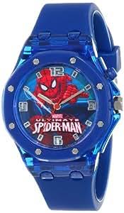 Marvel Ultimate Spider-Man  Kids' SPD3407 Analog Display Analog Quartz Blue Watch