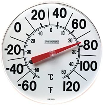 Springfield Indoor//Outdoor Thermometer 8-inch