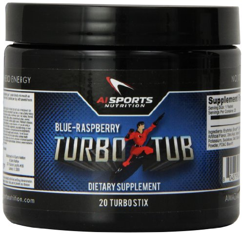 Anabolic Innovations Supplement Turbo Tub, Blue Raspberry, 20 (Fix Stix)