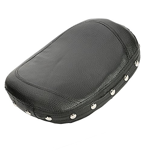ECLEAR Passenger Rider Backrest Motorcycle Cushion Pad For Harley Chopper Universal with Plating (Low Passenger Backrest Pad)