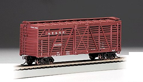 40' Stock Car - Ready to Run - Silver Series(R) -- Santa Fe (Boxcar Red) ()