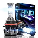 9007 5000k headlight bulbs - NINEO 9007 LED Headlight Bulbs, CREE Chips, Hi/Lo beam Cool White Conversion Kit 6000K 7,200Lm - 3 Yr Warranty