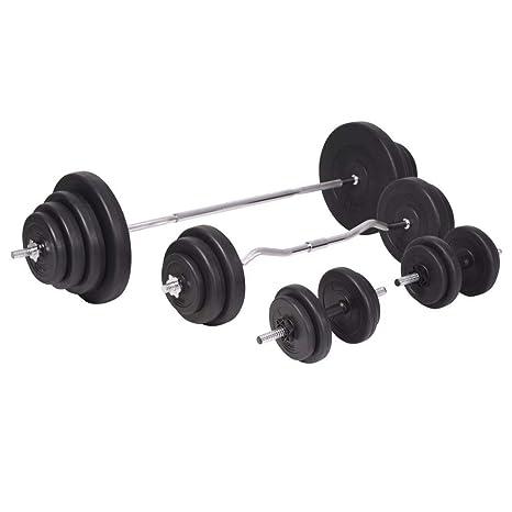 Xingshuoonline - Juego de Mancuernas y Mancuernas (120 kg, Gimnasio, Fitness, Deportes