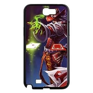 samsung n2 7100 phone case Black Twisted Fate league of legends HGH7593133