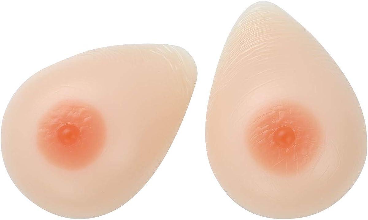 inlzdz 1 Paar Gef/älschte Brustprothesen Realistische Silikonbr/üste Selbstklebend Silikon Brustformen f/ür Crossdressing Transgender Mastektomie