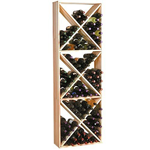 Traditional Series 132-Bottle Solid Diamond Cubes Wine Rack by Wine Cellar Innovation