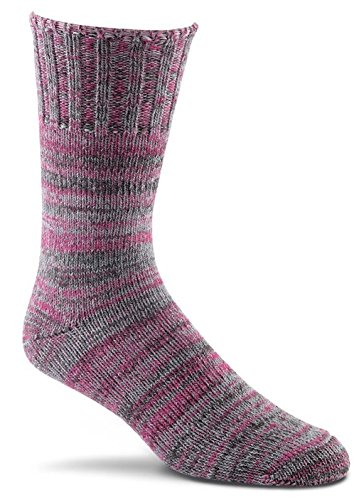FoxRiver New American Merino Ragg Wool Crew Socks, Pink, Large (River Fox Socks Wool)