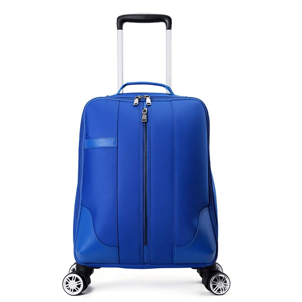 4車輪トロリーバックパックエグゼクティブモバイルオフィスビジネスハンドキャビン荷物ノートパソコンリュックサックナイロン防水バッグ用女性旅行 (色 : 青, サイズ さいず : 53*35*21cm) B07P8P7BJ5 青 53*35*21cm