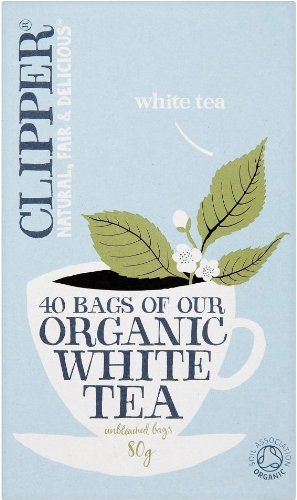 Clipper Organic White Tea 40 Bags (80g) - Pack of 3 (Total 120 Count)
