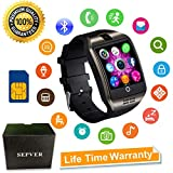 Smart Watch SEPVER SN06 Smartwatch with Touch Screen Camera SIM Card Slot Sport Watch Pedometer Fitness Tracker Smart Watches for Samsung Xiaomi Huawei Sony LG Android iPhone Men Women Kids (Black)