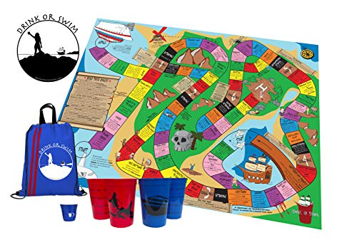 Uni Halloween Games (Drink or Swim - Life size strategy party board game for 4 to 20 people. Survivor themed party game for any)