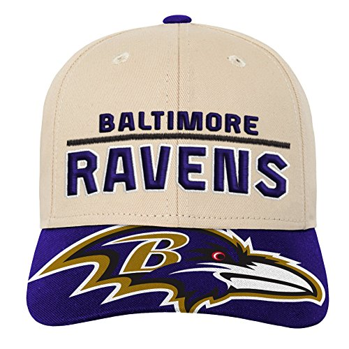 Outerstuff NFL NFL Baltimore Ravens Youth Boys Retro Style Logo Structured Hat Ravens Purple, Youth One Size (Baltimore Ravens Logo Jersey)