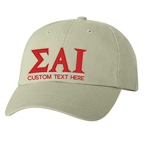 lpha Iota Greek Line Hat Tan (Tan Line Design)