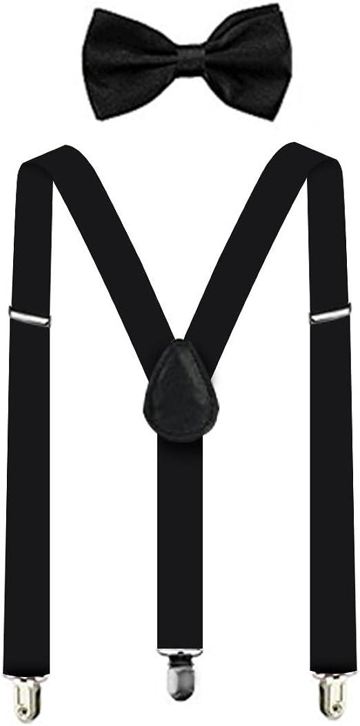 Men Women Clip-on Suspenders Elastic Y-Shape Adjustable Braces Solid 17 Colors