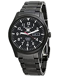 Seiko Men's 5 Automatic SNZG17K Black Stainless-Steel Automatic Watch