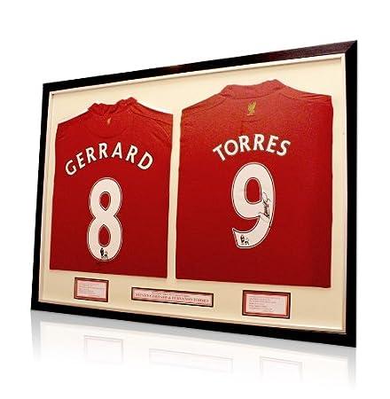 Steven Gerrard   Fernando Torres signed Liverpool shirts - Dual Framed   Amazon.co.uk  Kitchen   Home d16ce8338