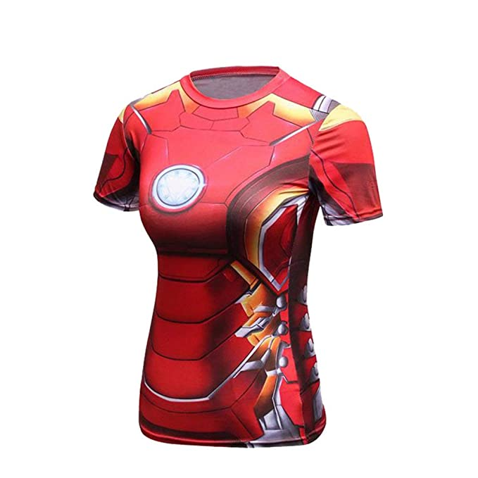 Amazon.com: Short Sleeve Ironman Compression Shirt Womens ...