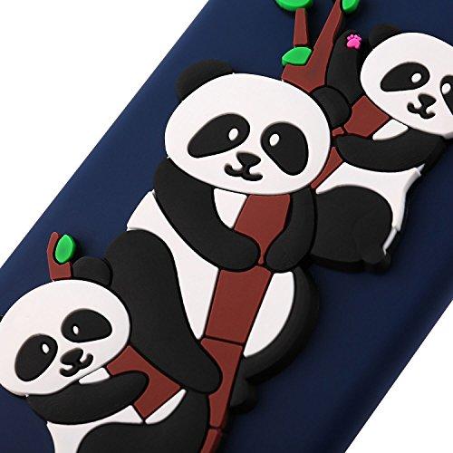 Funda para Samsung Galaxy Note 8 , IJIA Puro Verde Adorable Panda TPU Silicona Suave Cover Tapa Caso Parachoques Carcasa Cubierta Teléfono De Vuelta Shell Case para Samsung Galaxy Note8 (6.3) Darkblue