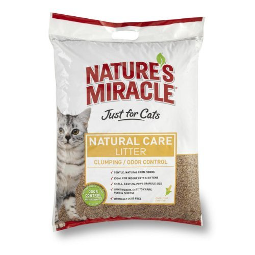 18-Pound, Gentle, Natural Corn Fibers Natural Cat - Natures Miracle Corn Litter