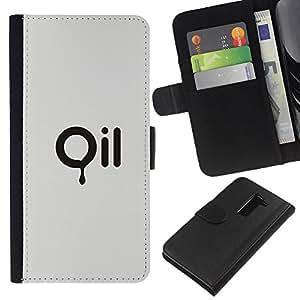 A-type (Pollution Minimalist Text Environment) Colorida Impresión Funda Cuero Monedero Caja Bolsa Cubierta Caja Piel Card Slots Para LG G2 D800
