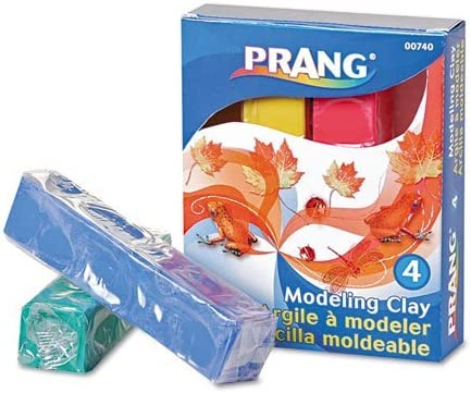 Modeling Clay Assortment 1/4 lb each Blue/Green/Red/Yellow 1 lb