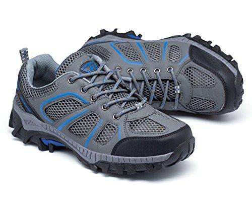 Malla De Deportes Al Aire Libre Respirables Usan Zapatos Antideslizantes Multicolor De Varios Tamaños Blue
