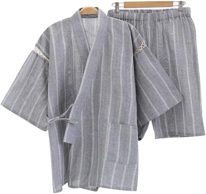 Black Temptation Kimono Jinbei camisa y pantalón japonés Loungewear/spa albornoz (corto) - H: Amazon.es: Ropa y accesorios