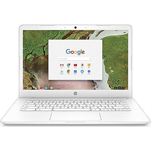 HP Chromebook 14-inch Laptop with 180-degree hinge, Intel Celeron N3350 Processor, 4 GB RAM, 16 GB eMMC storage, Chrome OS (14-ca030nr, White) -