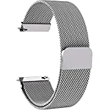 7 Colors for Quick Release Watch Strap, Fullmosa Milanese Magnetic Closure Stainless Steel Watch Band Replacement Strap for 18mm Silver
