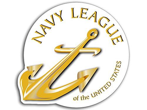 Usn Naval Ship - US Navy LEAGUE Logo Sticker (usn insignia naval ship anchor)