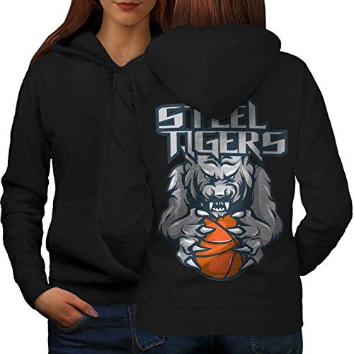 Steel Tigers Sport Basketball Women S Hoodie Back | Wellcoda (Evil Bunny Costume)