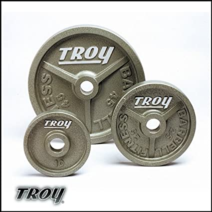 Troy Machine Grip Olympic Weight Plates 10 Pound 1 Pair