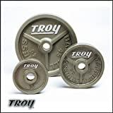 Troy Wide Flanged Olympic Weight Plates – 45 Pound – 1 Pair Review