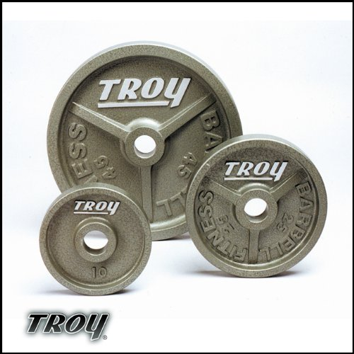Troy Barbell Troy Wide Flanged Olympic Weight Plates - 45...
