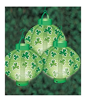 Various Styles by Mammoth Sales Lot of 12 LED Light Up Holiday Paper Lanterns Various Styles by Mammoth Sales Lot of 12 Shamrock