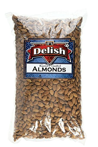 Gourmet Whole Almonds Roasted Unsalted by Its Delish, 5 lbs Bulk (Almonds Whole Roasted)