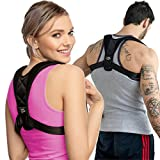 High Class Group | Posture Corrector for Women - Men | Relieves your Back Pain and Retrains Shoulders | Adjustable Strap Made of Soft Breathable Neoprene for Extra Comfort | Back Brace for Upper Back