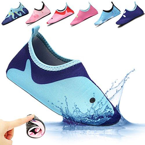 Ceyue Kids Swim Water Shoes Boys Girls Toddler Barefoot Aqua Sock for Beach Pool Surfing Walking Unisex – Sports Center Store