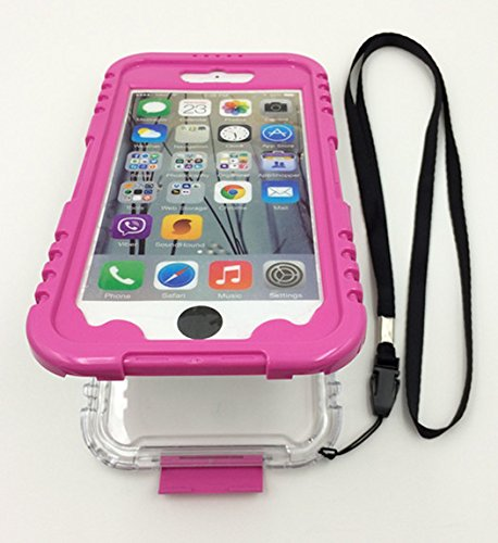 """ULIKE New High Quality Apple iphone 6 4.7"""" Full-body Protection Case Cover with Neck Strap -- Waterproof Dustproof Shockproof Snowproof CrashProof -- Retail Packaging (Pink-Purple)"""