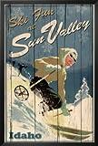 Ski Fun at Sun Valley Idaho Art Print Poster Framed Poster 26 x 38in