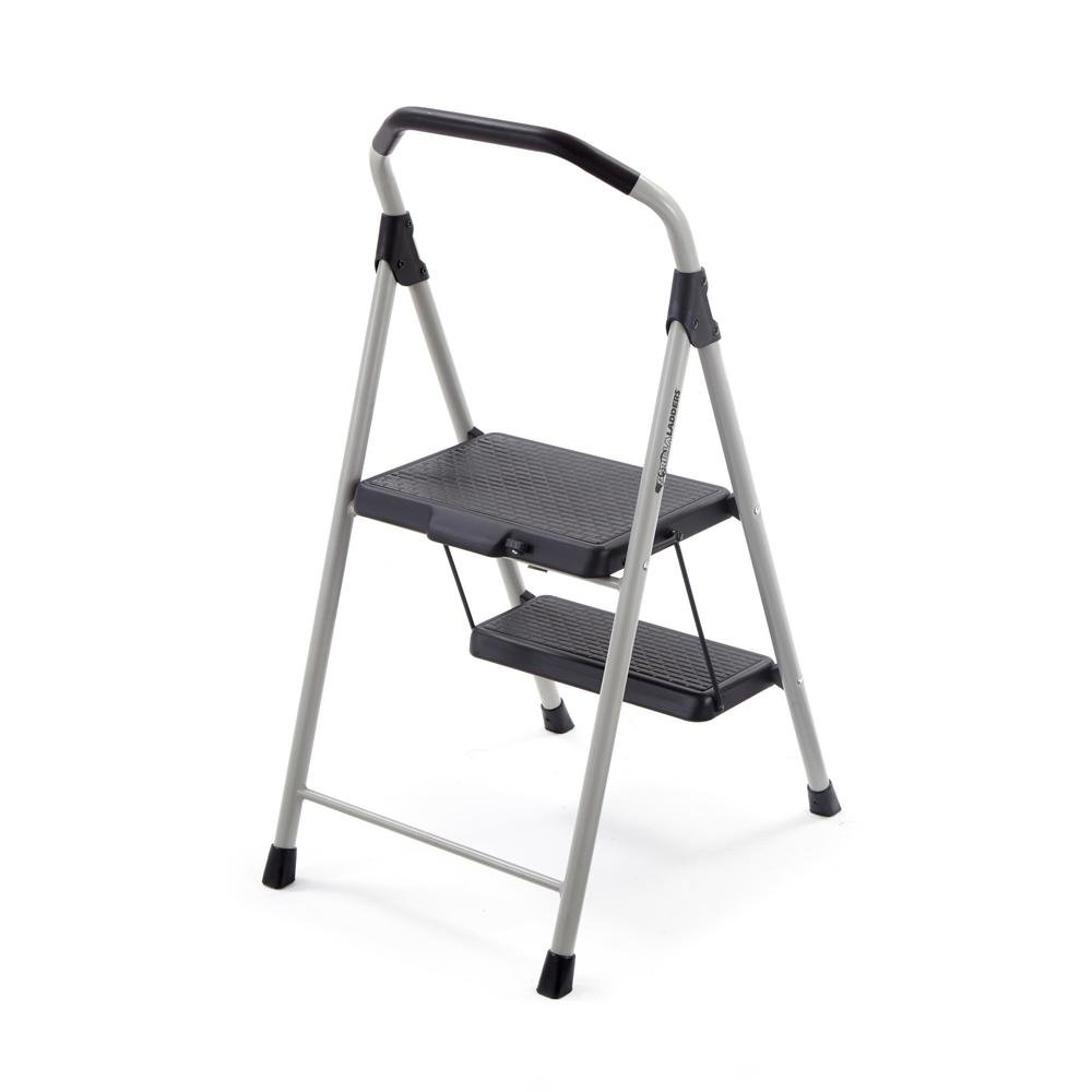 Ladder 2-Step Lightweight Steel Step with 225 lb. Load Capacity Type II Duty Rating