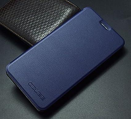 Prevoa Flip PU Funda Cover Case < Caso Duro adentro > Protictive Carcasa para DOOGEE Y6 Y6C Smartphone - Darkblue