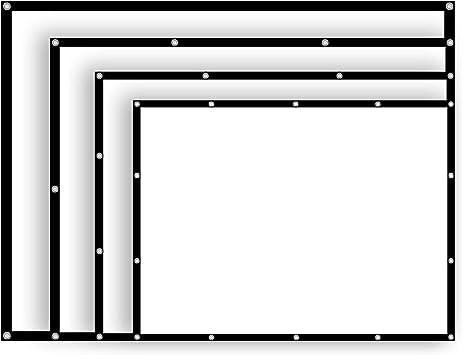 54/84/100/112 Pulgadas 4:3 Proyector de Pantalla Manual para ...