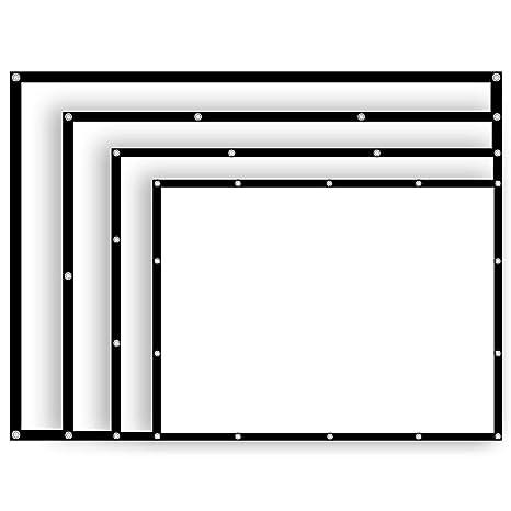 1b92cd14c57 Amazon.com  54 84 100 112 Inch 4 3 Projector Screen Manual Hanging ...