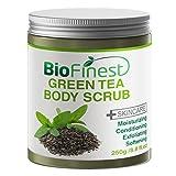 Biofinest Green Tea Scrub – with Dead Sea Salt, Coconut Oil, Jojoba Oil, Vitamin E, Essential Oils – Best Antioxidants For Anti-Aging (250g) For Sale