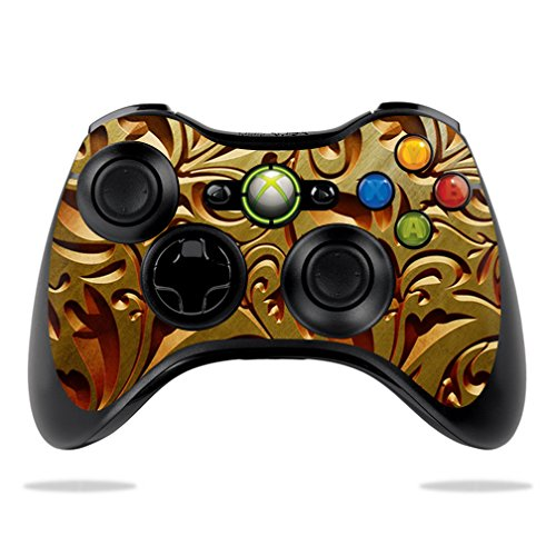 MightySkins Protective Vinyl Skin Decal for Microsoft Xbox 360 Controller Case wrap cover sticker skins Mosaic Gold