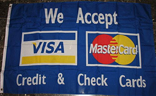 Visa MasterCard Flag 3'x5' Credit Card Advertising Banner